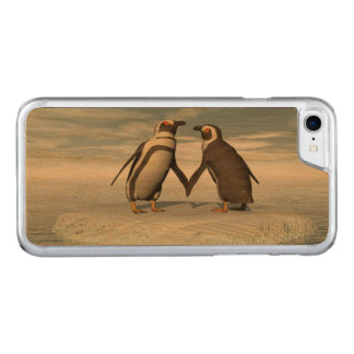 Penguins couple carved iPhone 7 case