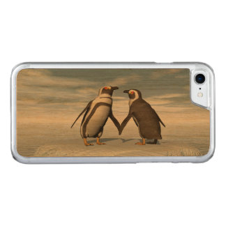 Penguins couple carved iPhone 8/7 case