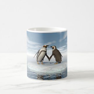 Penguins couple coffee mug