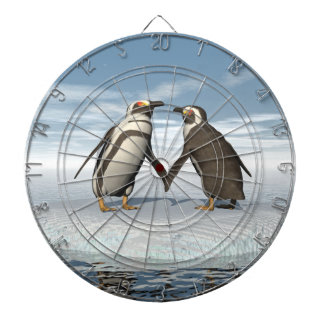 Penguins couple dartboard