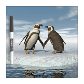 Penguins couple dry erase whiteboards