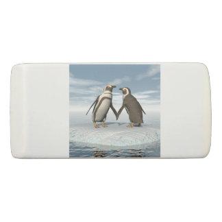 Penguins couple eraser