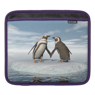 Penguins couple iPad sleeve