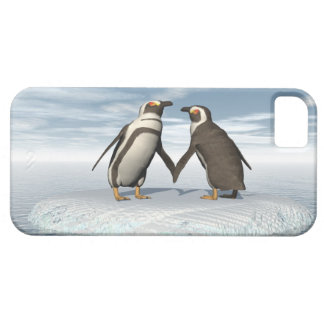 Penguins couple iPhone 5 cases