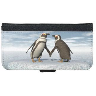 Penguins couple iPhone 6 wallet case
