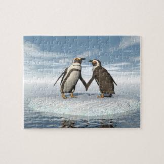 Penguins couple jigsaw puzzle