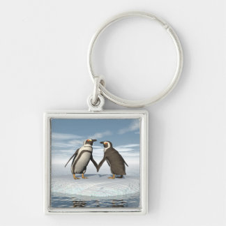 Penguins couple keychain