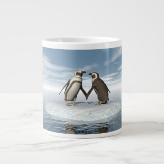 Penguins couple large coffee mug