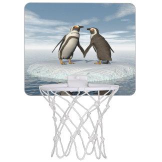 Penguins couple mini basketball hoop