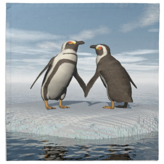 Penguins couple napkin