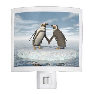 Penguins couple nite light