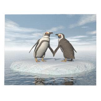 Penguins couple notepads