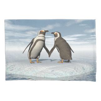 Penguins couple pillowcase