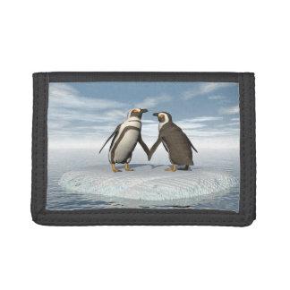 Penguins couple tri-fold wallets