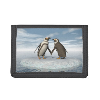 Penguins couple trifold wallets