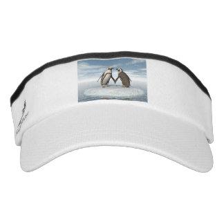 Penguins couple visor