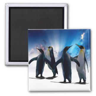 Penguins dance magnet