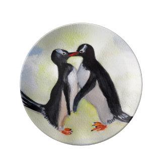 Penguins  Decorative Porcelain Plate