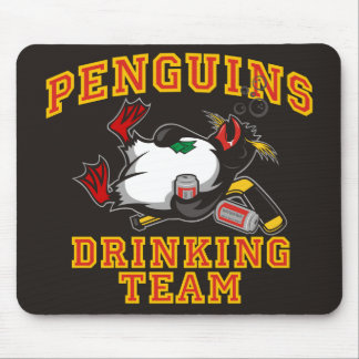 Penguins Drinking Team Mouse Pad