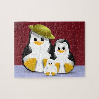Penguins family portrait jigsaw puzzle