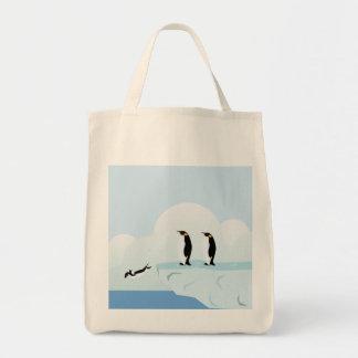 Penguins Grocery Tote Bag