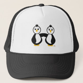 Penguins Holding Hands Trucker Hat