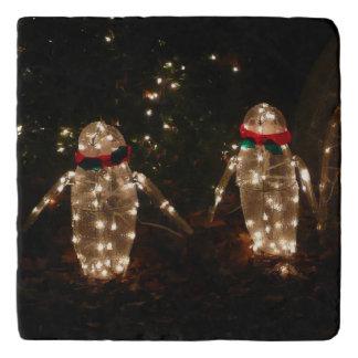 Penguins Holiday Light Display Trivet