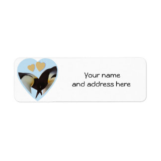 Penguins in Love Return Address Labels