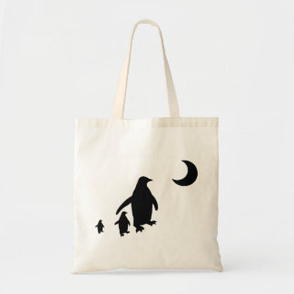Penguins in the Antarctic Moonlight Budget Tote Bag