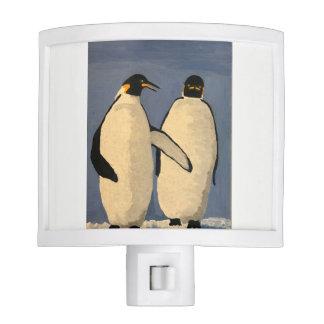 Penguins in the Antarctic Nite Lights