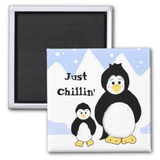 Penguins Just Chilling Magnet