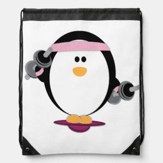 Penguins Lift Tote Back Bag Drawstring Bag