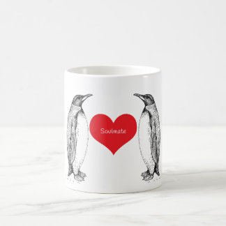 Penguins love forever classic white coffee mug