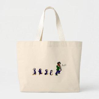 Penguins Love Jazz Canvas Bag