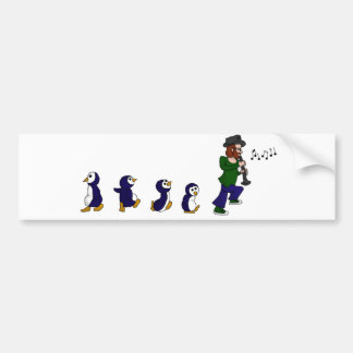 Penguins Love Jazz Bumper Sticker