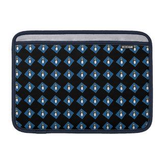 Penguins on Blue Diamonds Black Sleeve MacBook Air Sleeves