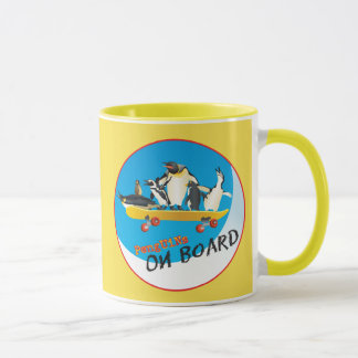 Penguins On Board Mug