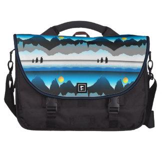 Penguins On The Move Laptop Messenger Bag
