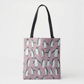 Penguins Pattern Tote Bag