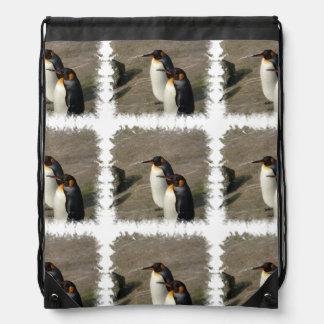 Penguins Drawstring Bags