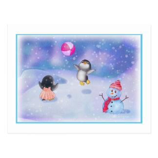 Penguins Post Card