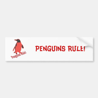 Penguins Rule! Bumper Sticker