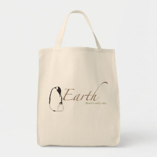 Penguins Save Earth Grocery Tote Bag