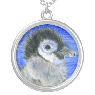 Penguins Silver Plated Necklace