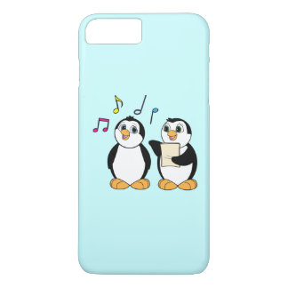 Penguins Singing a Duet with Colorful Notes iPhone 7 Plus Case