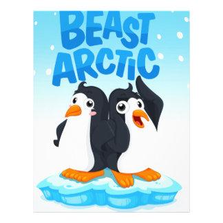 Penguins standing on ice letterhead template