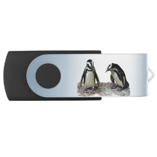 Penguins Swivel USB 2.0 Flash Drive