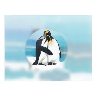 Penguins Through The Igloo Postcard