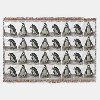 Penguins Throw Blanket