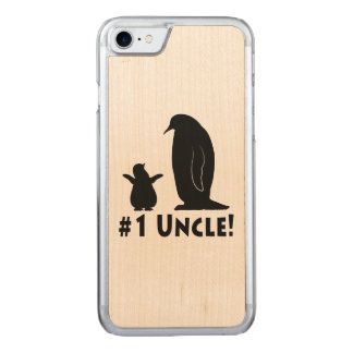 Penguins: Uncle and Chick Carved iPhone 7 Case